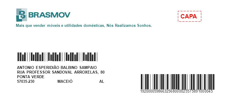 ANTONIO ESPERIDIÃO BALBINO SAMPAIO RUA PROFESSOR SANDOVAL ARROXELAS, 80 PONTA VERDE 57035-230 MACEIÓ AL Mais que vender móveis e utilidades domésticas