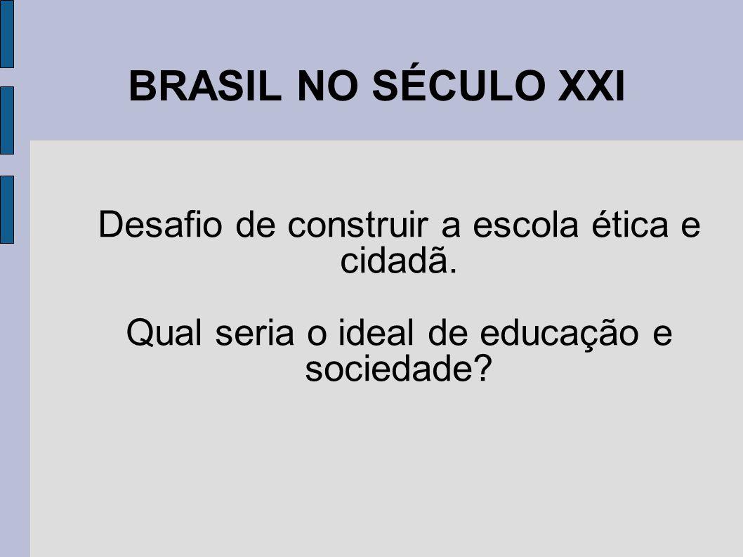 BRASIL NO SÉCULO XXI Desafio de construir a escola ética e cidadã.