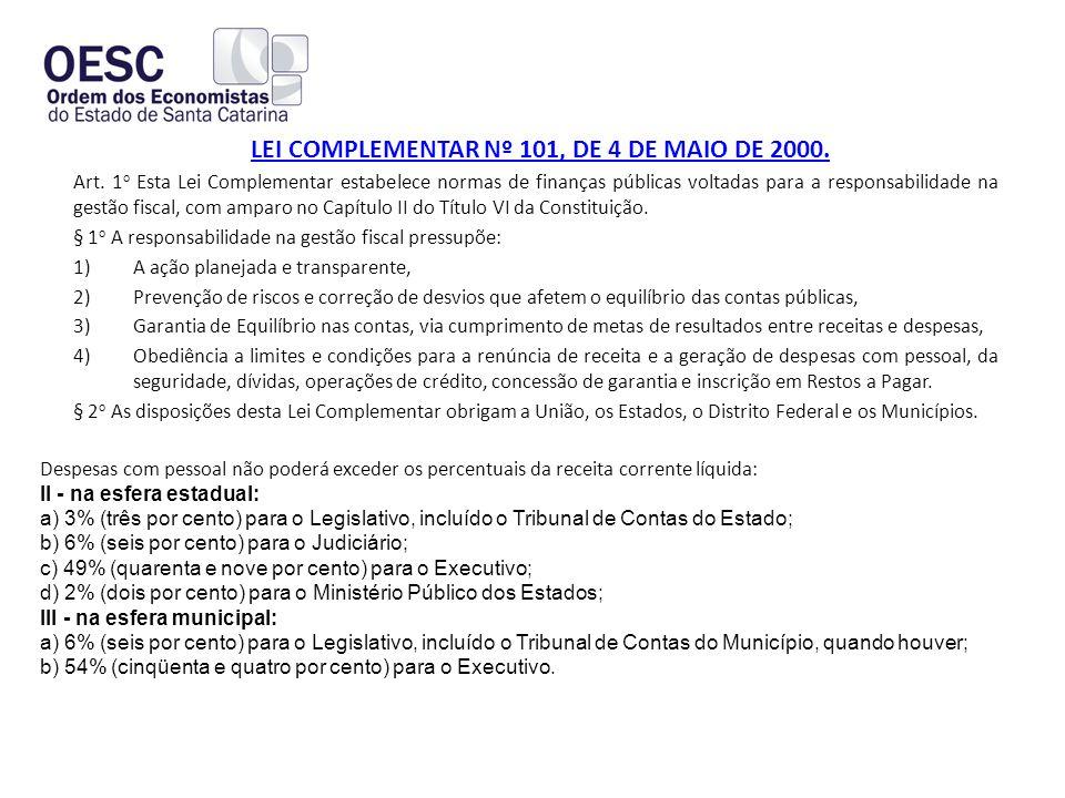 LEI COMPLEMENTAR Nº 101, DE 4 DE MAIO DE 2000.Art.