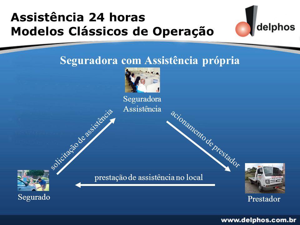 Assistência 24 horas Modelos Clássicos de Operação Seguradora com Assistência própria solicitação de assistência acionamento de prestador prestação de