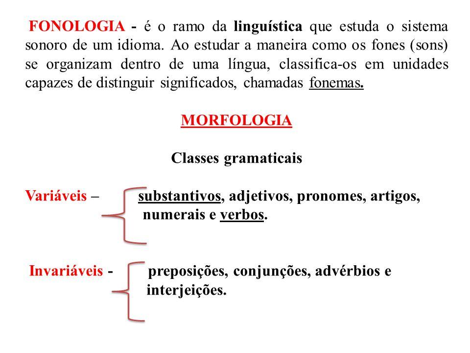 FONOLOGIA - é o ramo da linguística que estuda o sistema sonoro de um idioma. Ao estudar a maneira como os fones (sons) se organizam dentro de uma lín