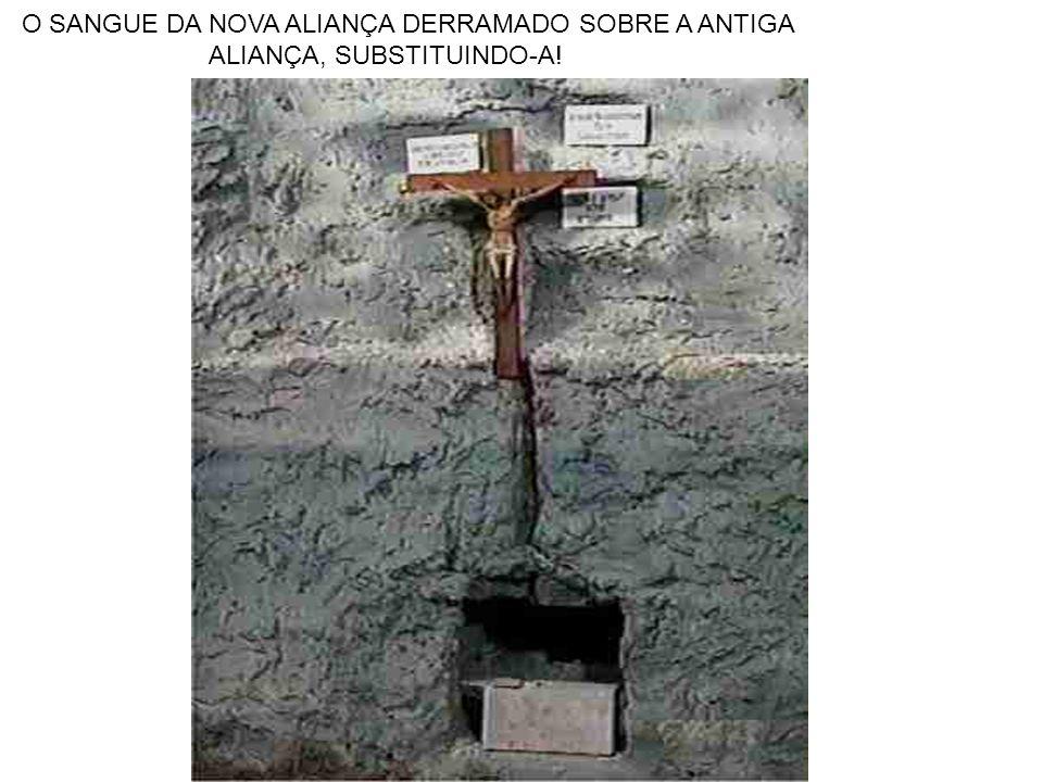 O SANGUE DA NOVA ALIANÇA DERRAMADO SOBRE A ANTIGA ALIANÇA, SUBSTITUINDO-A!