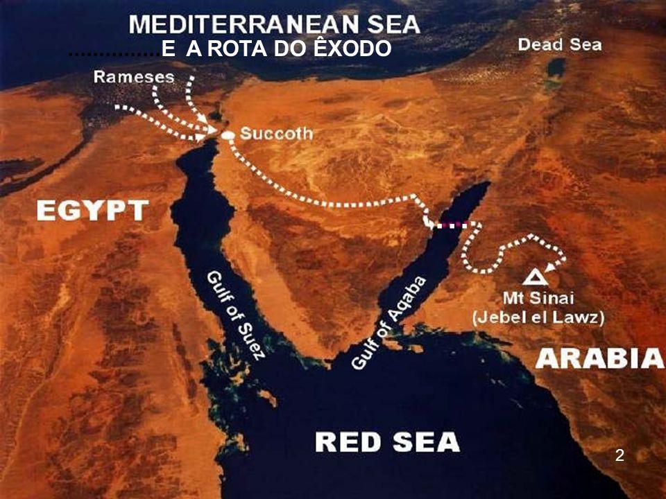 Goshen Este mapa mostra todo o percurso que fizeram, de Goshen até o Monte Sinai 13 Etã