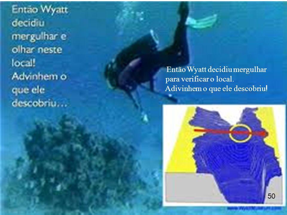 Então Wyatt decidiu mergulhar para verificar o local. Adivinhem o que ele descobriu ! 50
