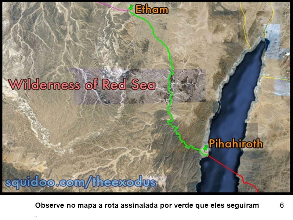 Observe no mapa a rota assinalada por verde que eles seguiram. 6