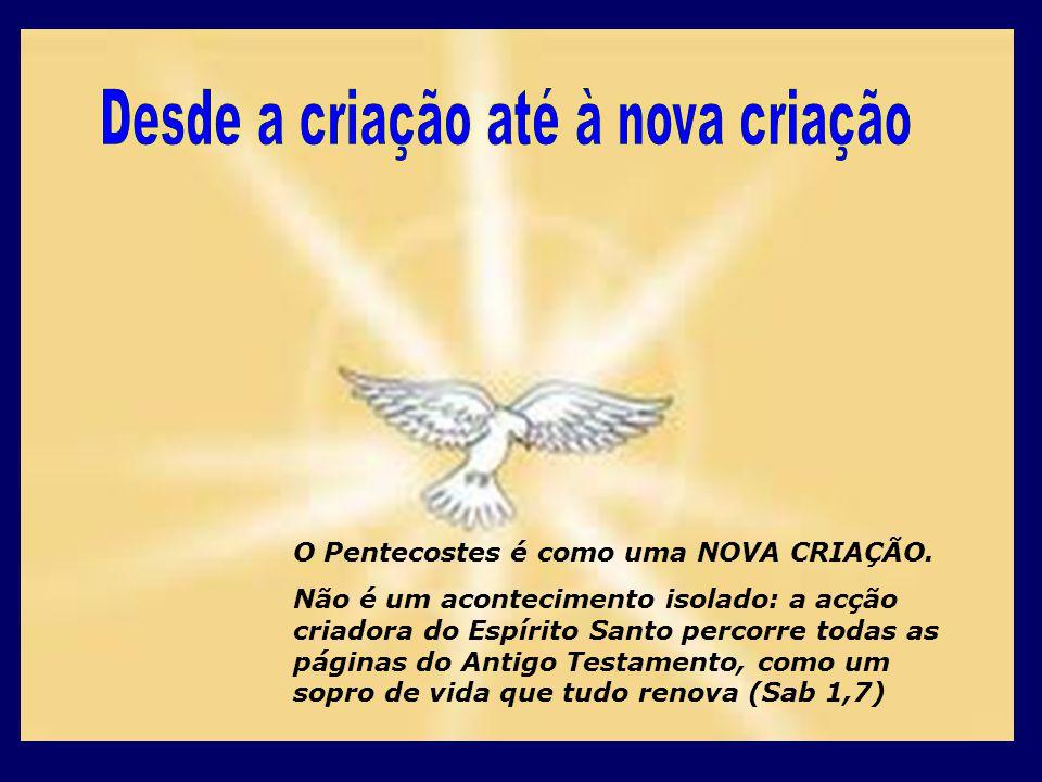 O Pentecostes é como uma NOVA CRIAÇÃO.