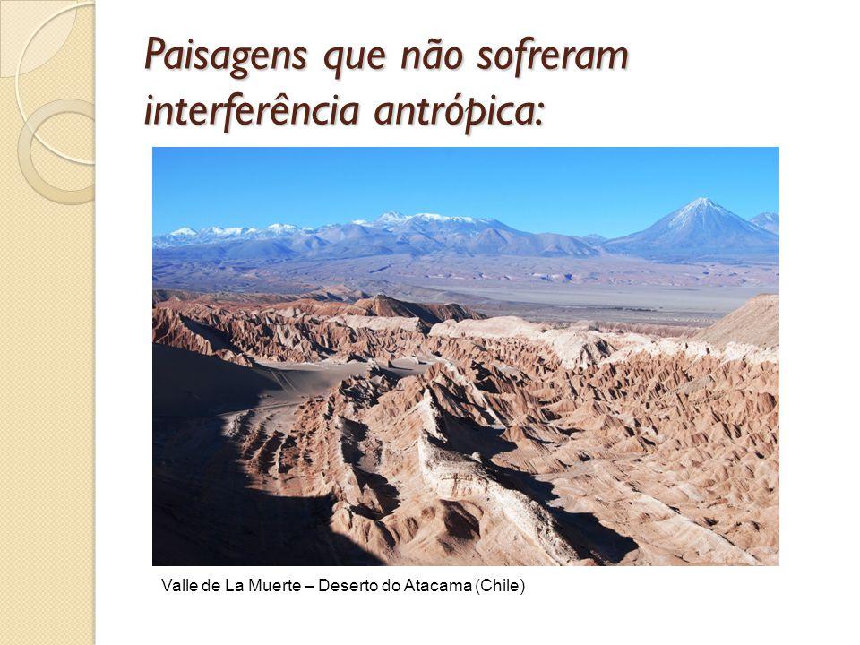 Paisagens que não sofreram interferência antrópica: Valle de La Muerte – Deserto do Atacama (Chile)
