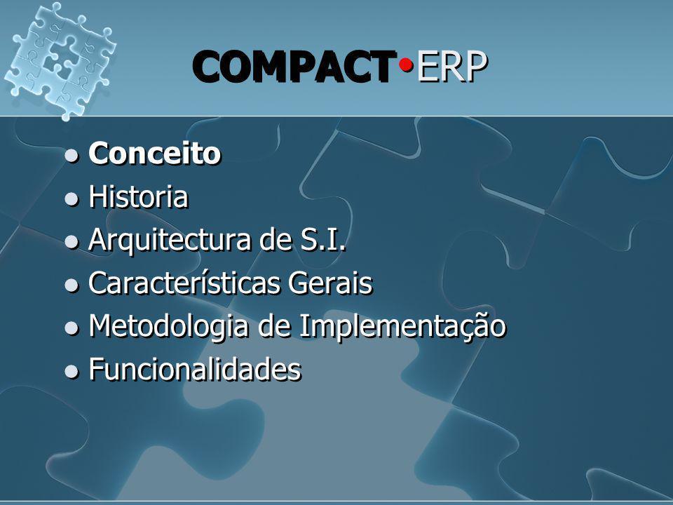COMPACT  ERP  Conceito  Historia  Arquitectura de S.I.  Características Gerais  Metodologia de Implementação  Funcionalidades  Conceito  Hist
