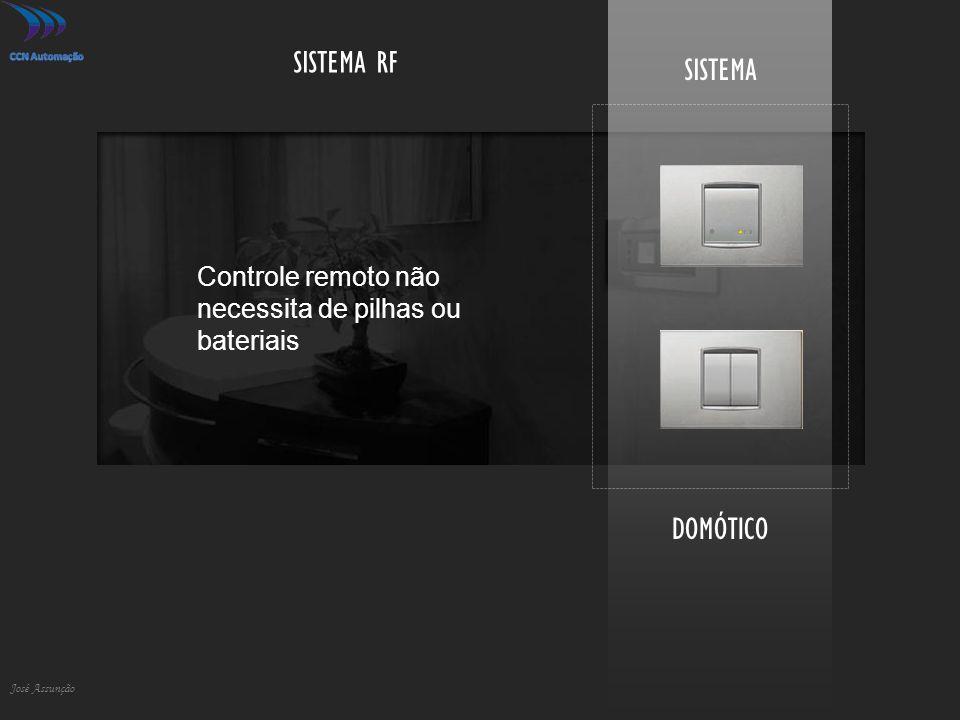 DOMÓTICO José Assunção SISTEMA SISTEMA RF Controle remoto não necessita de pilhas ou bateriais