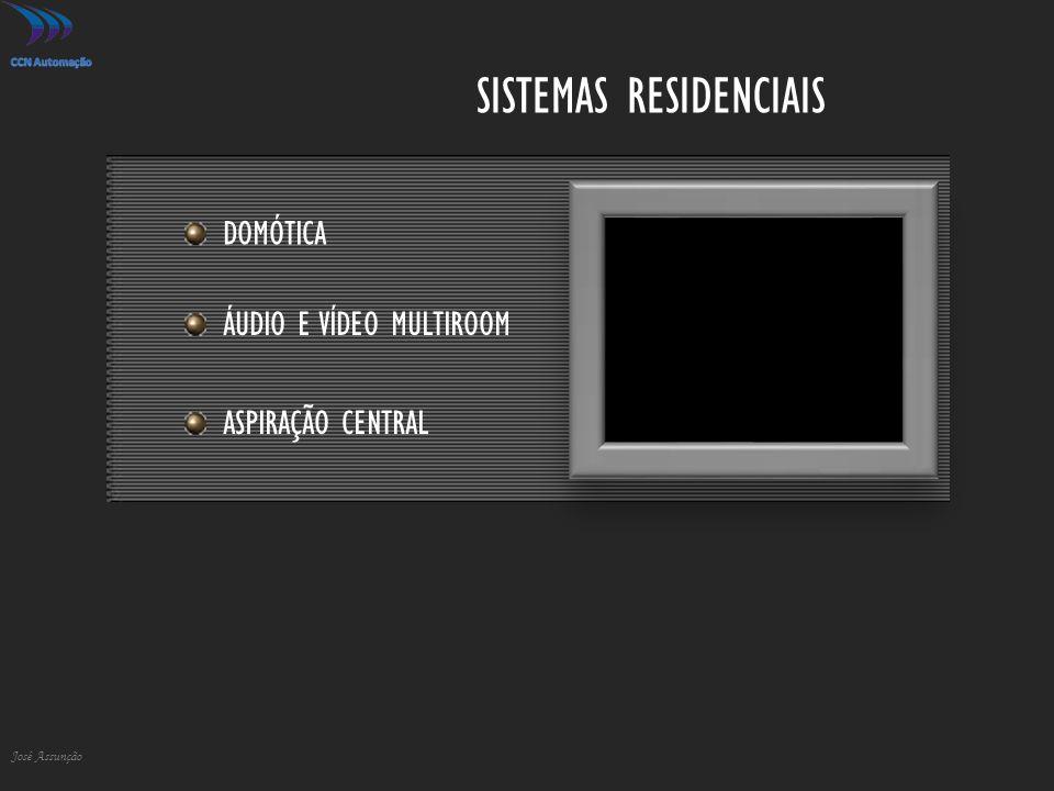 SISTEMAS RESIDENCIAIS José Assunção DOMÓTICA ÁUDIO E VÍDEO MULTIROOM ASPIRAÇÃO CENTRAL
