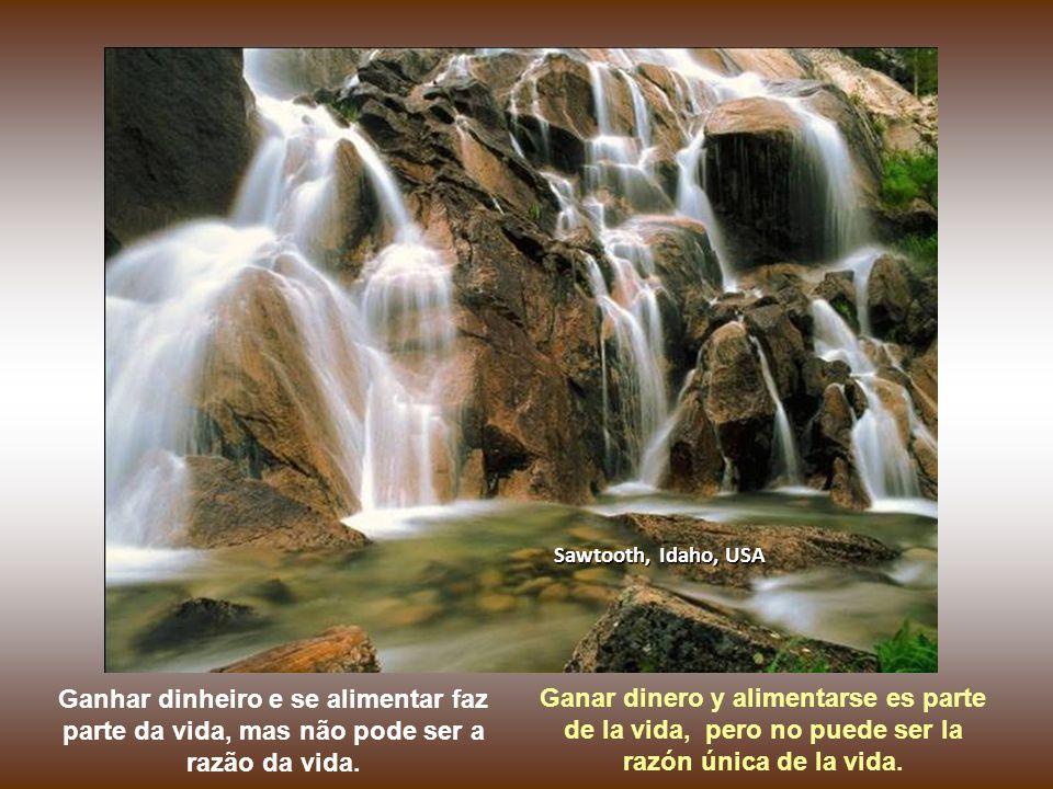 Cachoeiras de Columbia, Oregon, USA Ninguém veio a essa vida com a missão de juntar dinheiro e comer do bom e do melhor. Nadie vino a esta vida sólo c