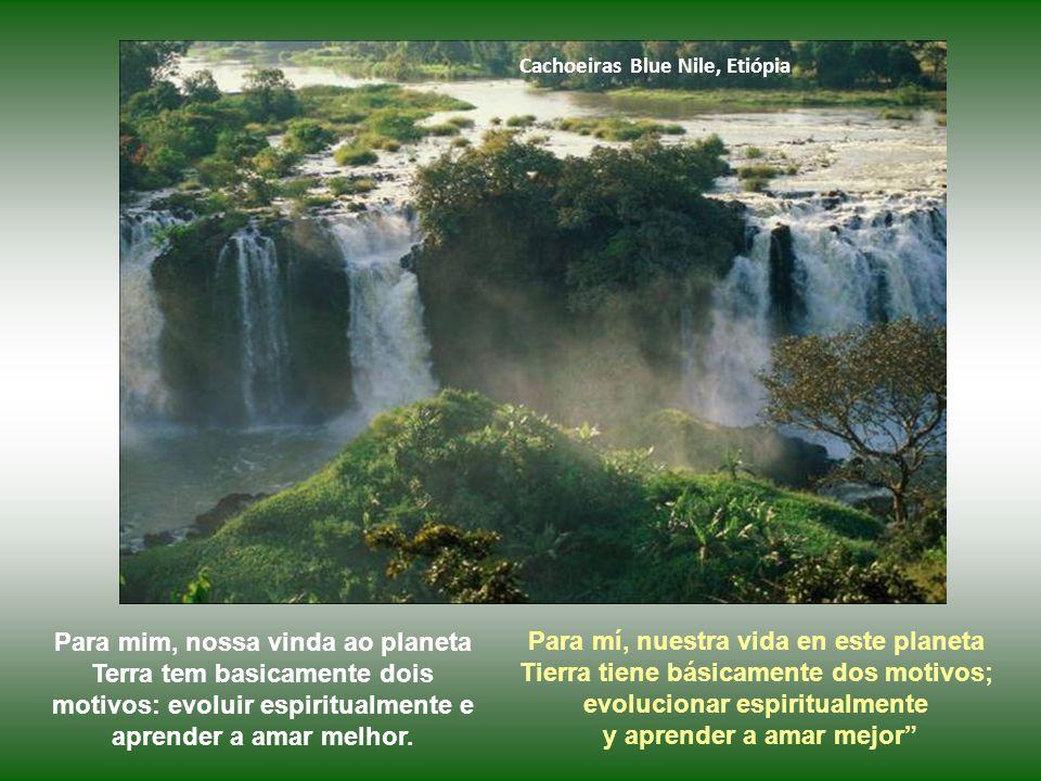 Cachoeiras Blue Nile, Etiópia Para mim, nossa vinda ao planeta Terra tem basicamente dois motivos: evoluir espiritualmente e aprender a amar melhor.