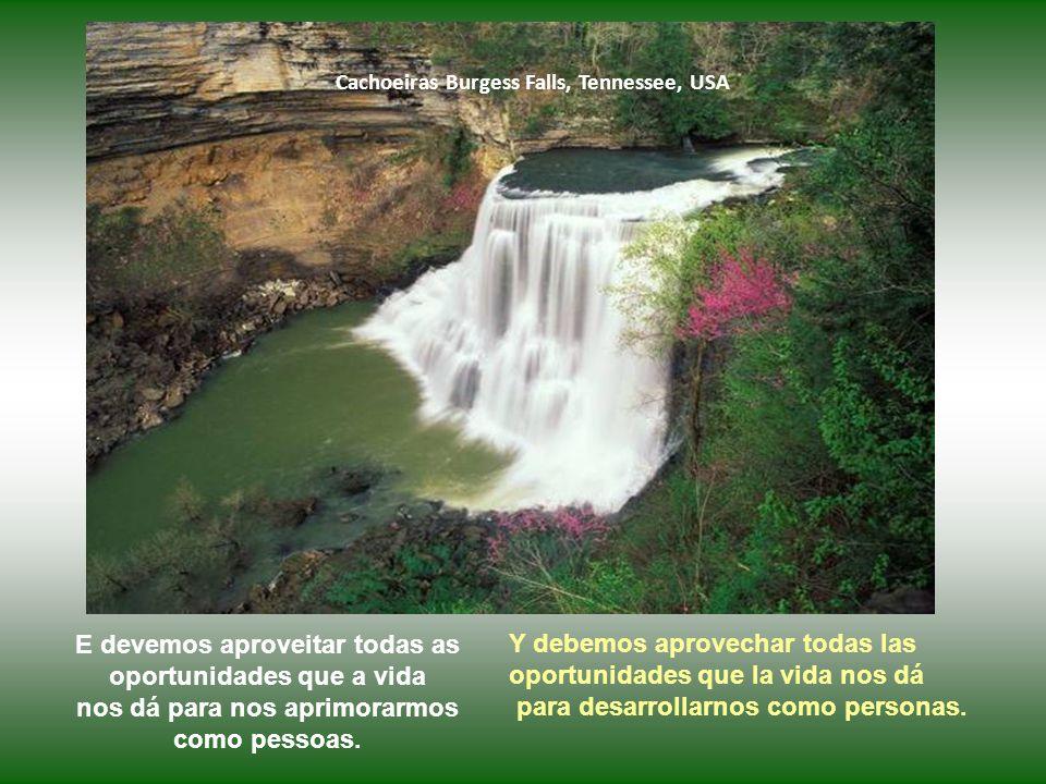 Cachoeiras Burgess Falls, Tennessee, USA Todos os nossos bens na verdade não são nossos.