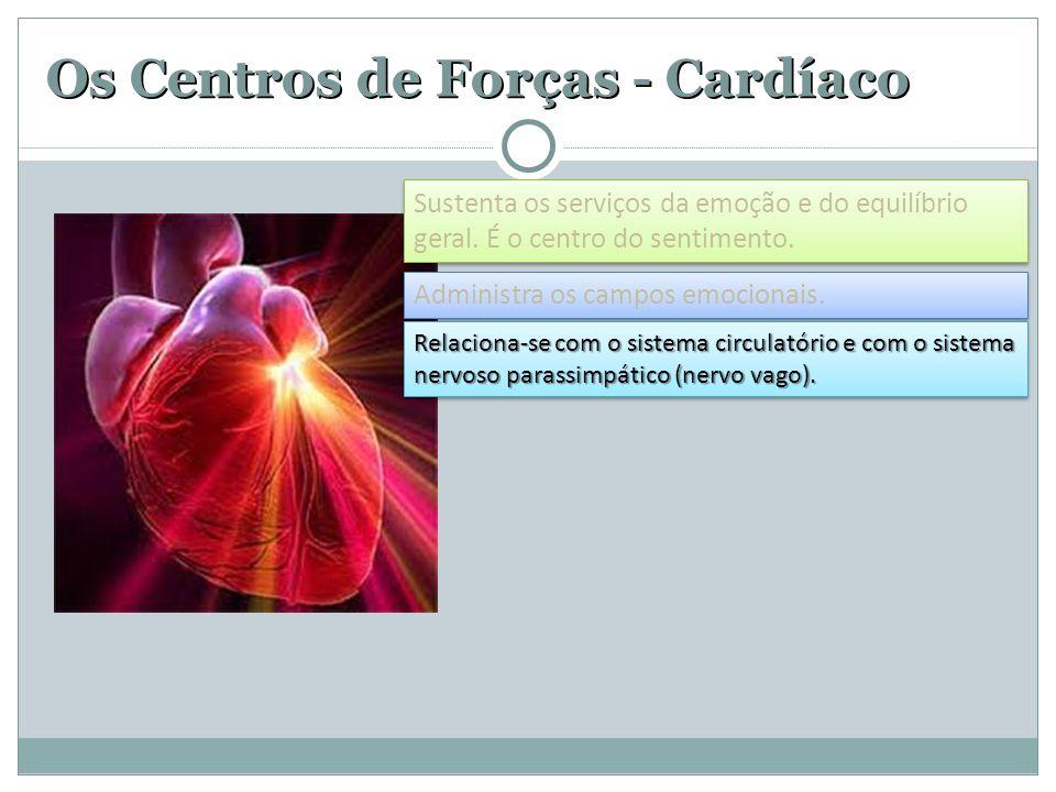 Os Centros de Forças - Cardíaco Administra os campos emocionais.