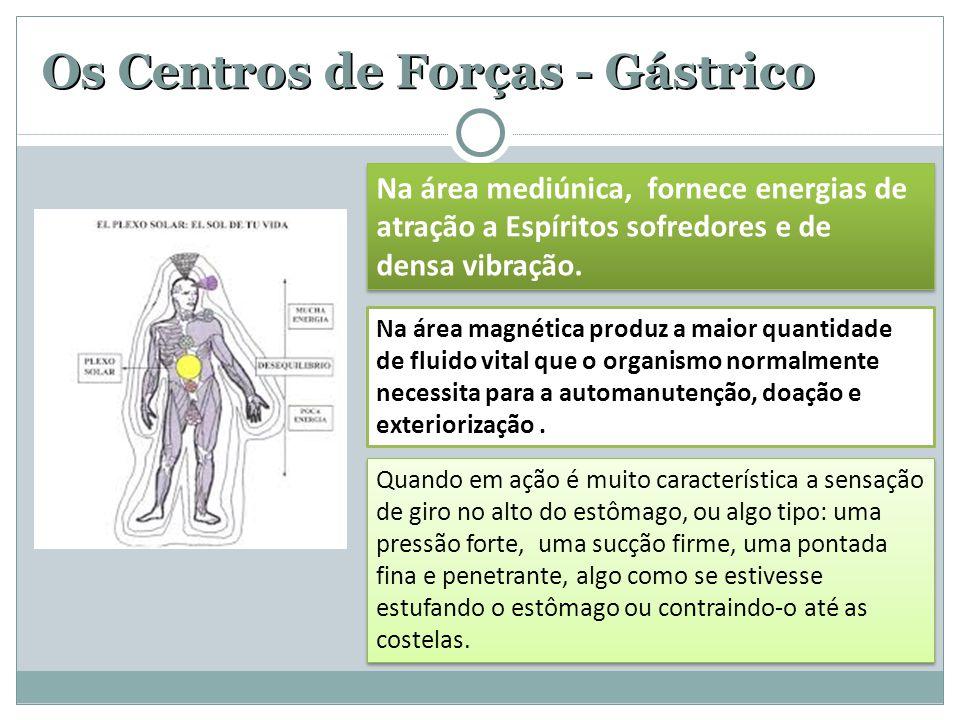 Os Centros de Forças - Gástrico Quando em ação é muito característica a sensação de giro no alto do estômago, ou algo tipo: uma pressão forte, uma suc