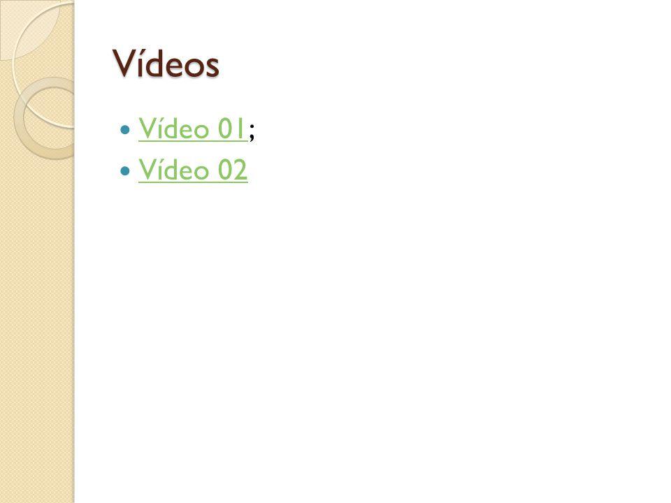 Vídeos  Vídeo 01; Vídeo 01  Vídeo 02 Vídeo 02