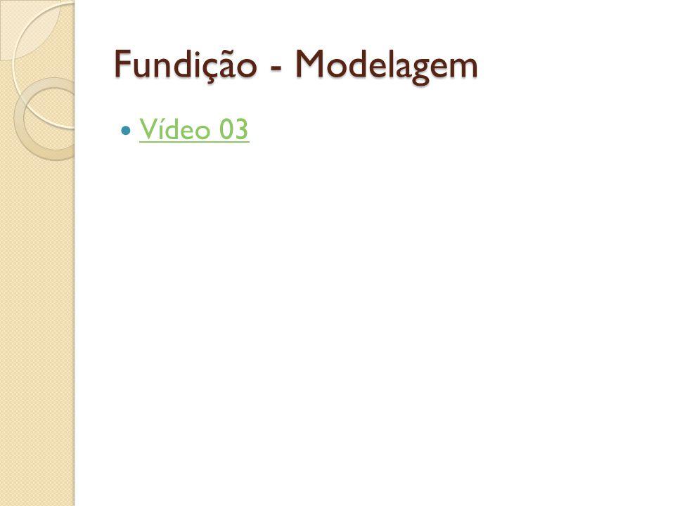 Fundição - Modelagem  Vídeo 03 Vídeo 03