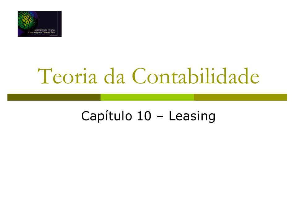 Teoria da Contabilidade Capítulo 10 – Leasing