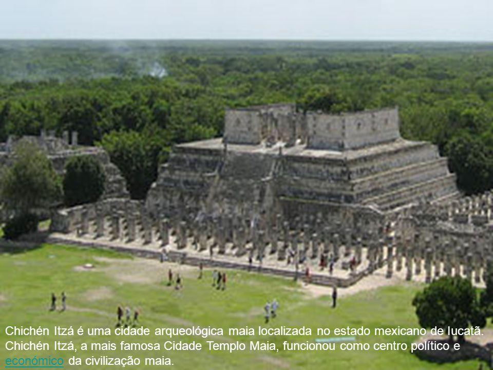 Chichén Itzá é uma cidade arqueológica maia localizada no estado mexicano de Iucatã. Chichén Itzá, a mais famosa Cidade Templo Maia, funcionou como ce