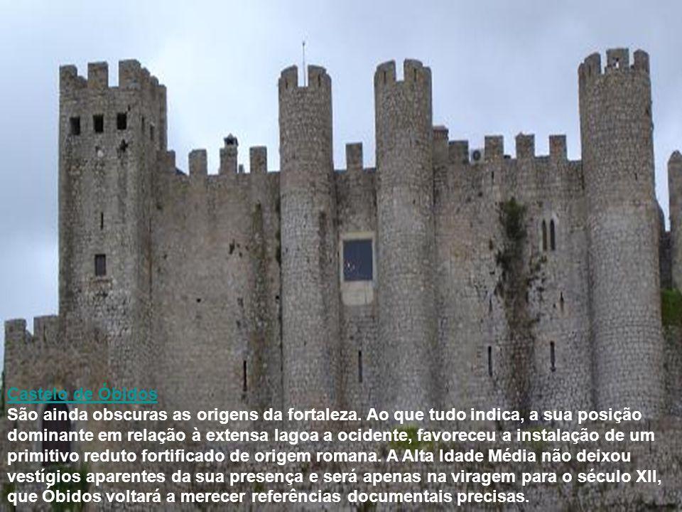 Castelo de Óbidos São ainda obscuras as origens da fortaleza. Ao que tudo indica, a sua posição dominante em relação à extensa lagoa a ocidente, favor