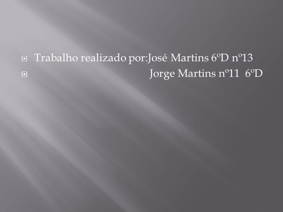  Trabalho realizado por:José Martins 6ºD nº13  Jorge Martins nº11 6ºD