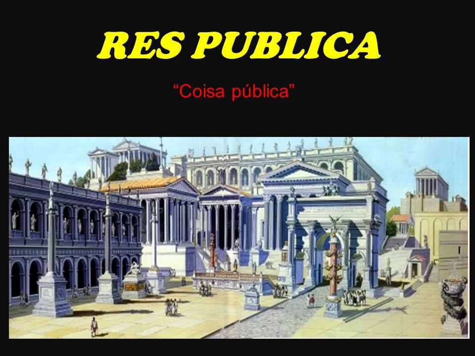 • Senado • Magistrados ∟ Cônsules ∟ Ditadores → tempo de crise ∟ Pretores → justiça ∟ Questores → finanças ∟ Censores → censo ∟ Edis → serviço público RES PUBLICA
