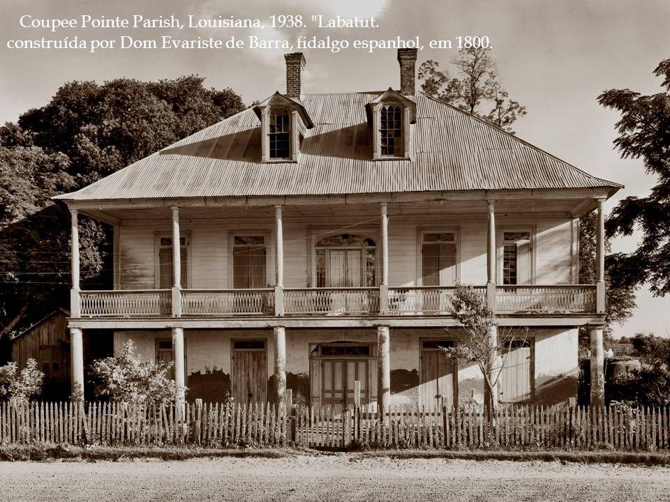 St. Charles Parish, Louisiana, ano 1938.