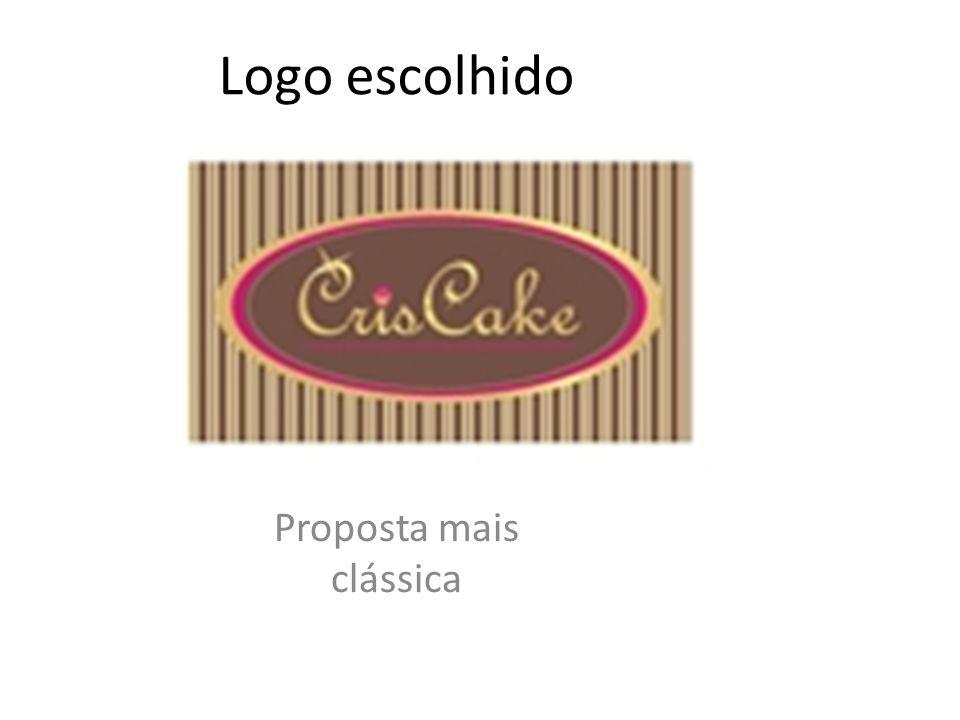 Logo escolhido Proposta mais clássica
