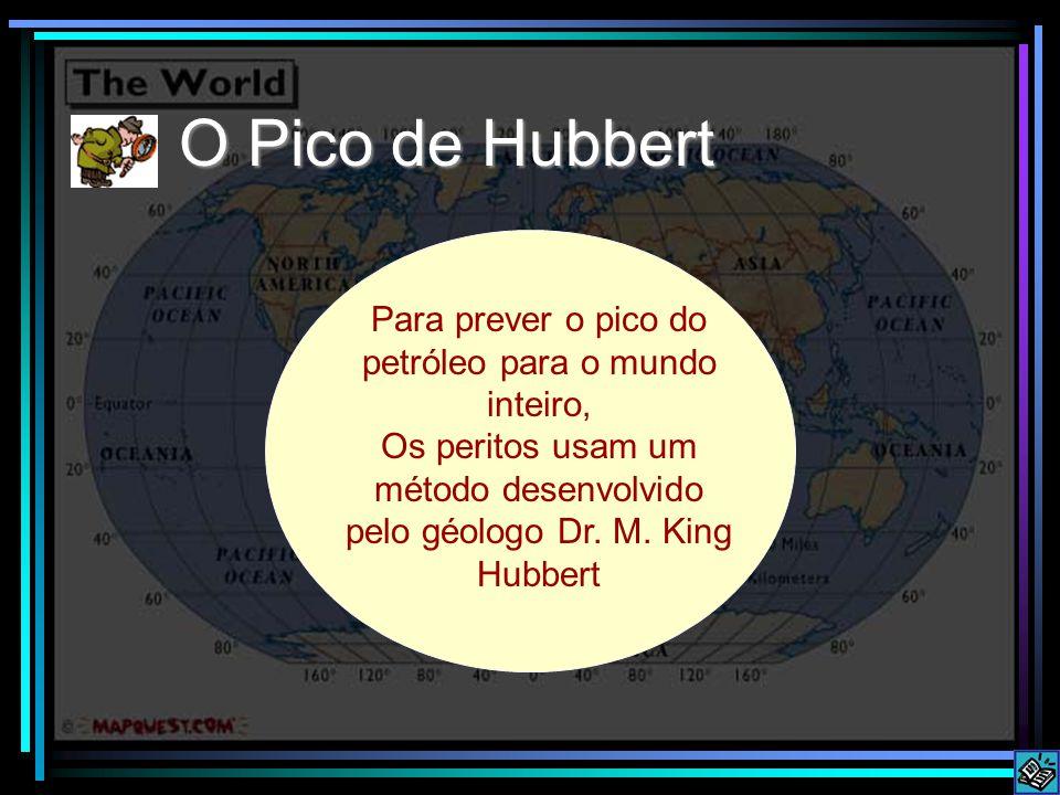 O Pico de Hubbert Para prever o pico do petróleo para o mundo inteiro, Os peritos usam um método desenvolvido pelo géologo Dr. M. King Hubbert