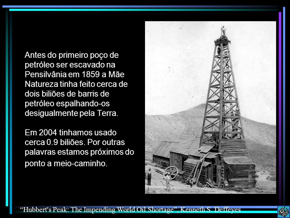 Antes do primeiro poço de petróleo ser escavado na Pensilvânia em 1859 a Mãe Natureza tinha feito cerca de dois biliões de barris de petróleo espalhando-os desigualmente pela Terra.