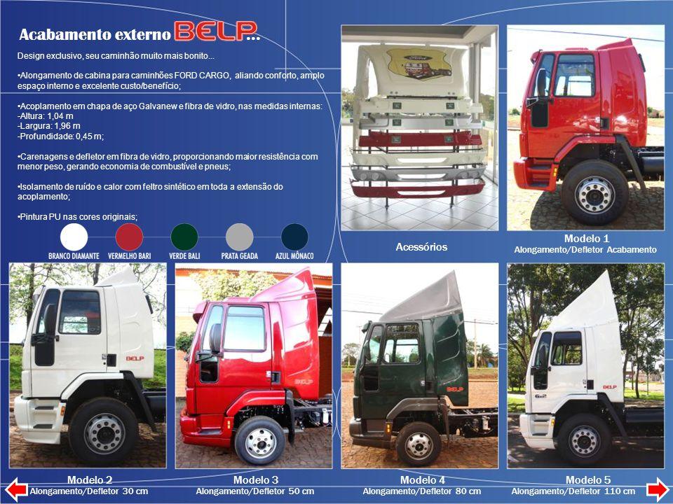 Acabamento externo...Design exclusivo, seu caminhão muito mais bonito...