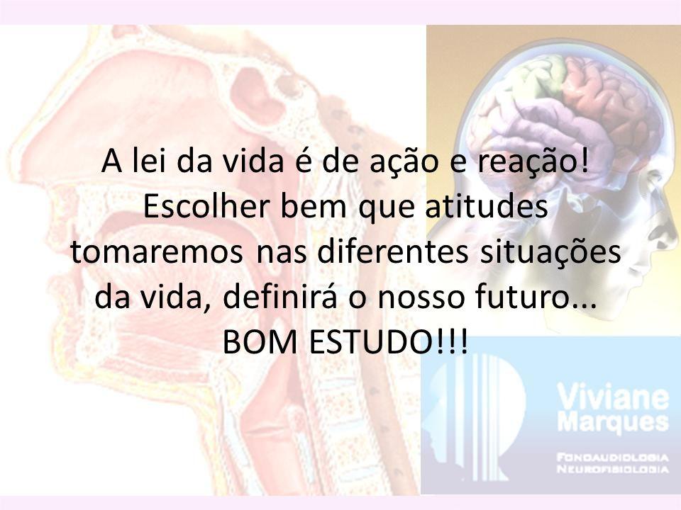 A lei da vida é de ação e reação! Escolher bem que atitudes tomaremos nas diferentes situações da vida, definirá o nosso futuro... BOM ESTUDO!!!