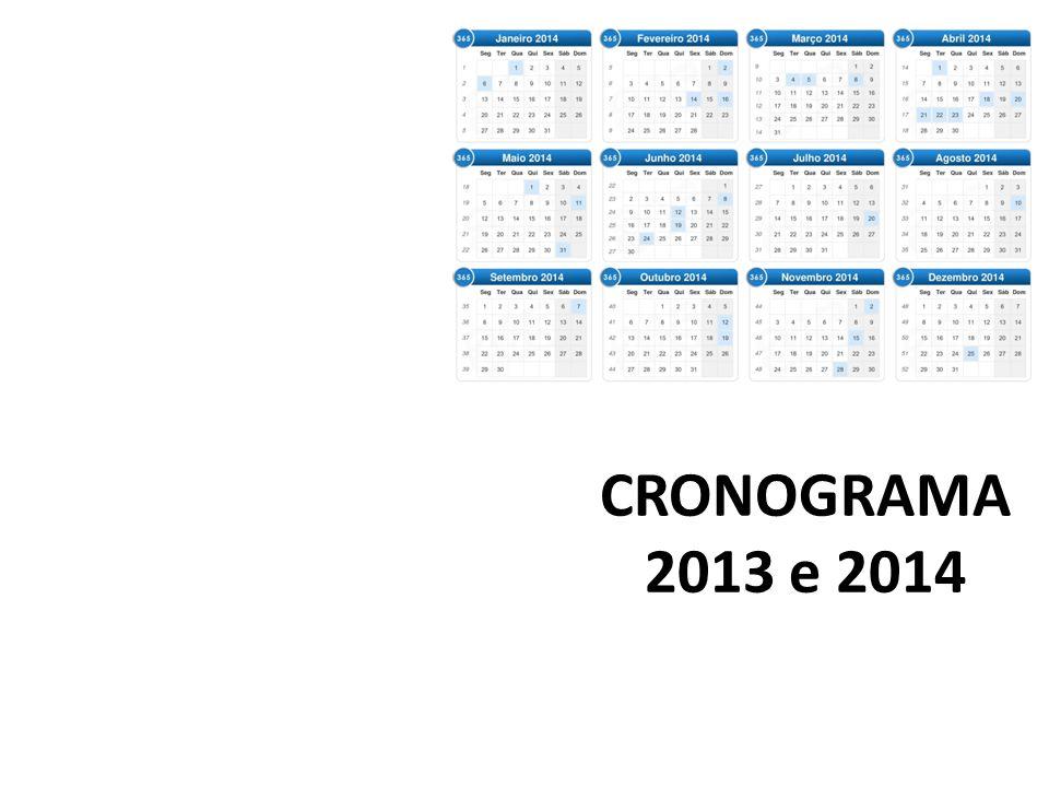 CRONOGRAMA 2013 e 2014
