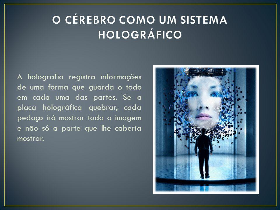 A holografia registra informações de uma forma que guarda o todo em cada uma das partes.