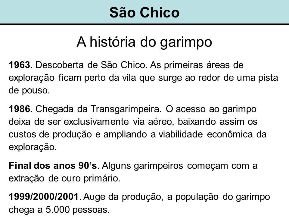 São Chico A história do garimpo 1963.Descoberta de São Chico.