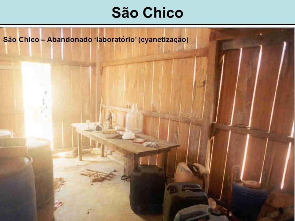 São Chico São Chico – Abandonado 'laboratório' (cyanetização)