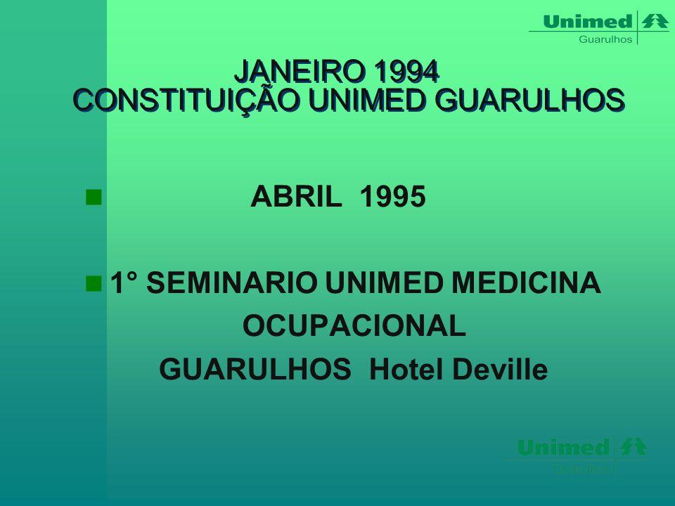 1995  CONSTITUIÇÃO DO D.M.O.