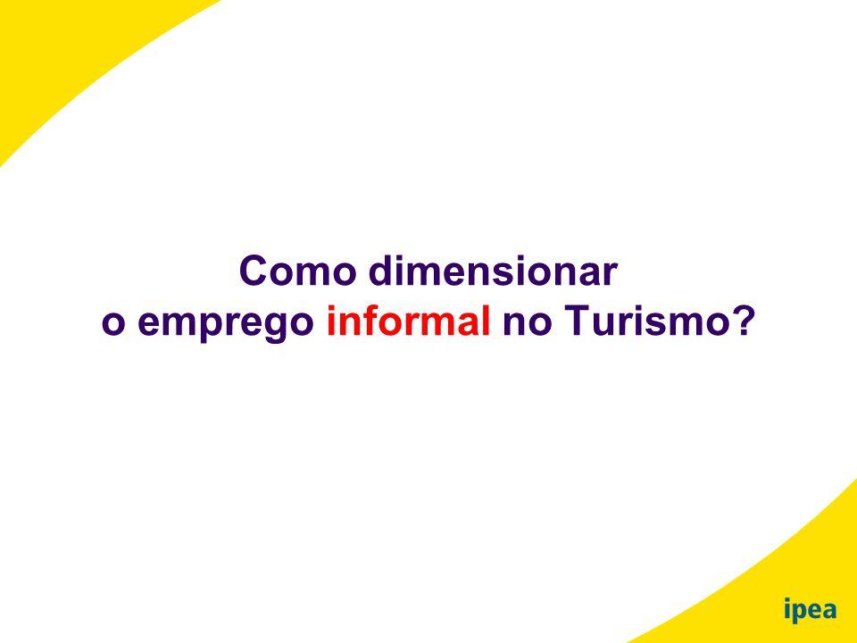 Como dimensionar o emprego informal no Turismo?