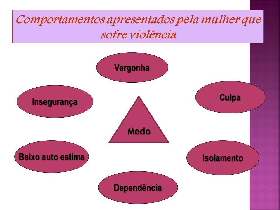  Ligação afetiva entre agredida e agressor;  Receio que o agressor seja prejudicado socialmente;  Culpa por sentir-se responsável pela violência; 