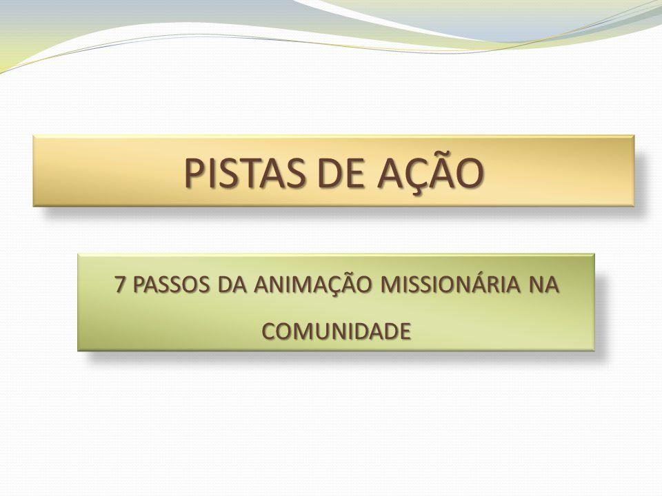 SUJEITOS NO PROCESSO DE ANIMAÇÃO MISSIONÁRIA •Projetos Ad Gentes / Programa Igrejas-Irmãs / Missão na Amazônia •Missões Populares •POM •Fidei Donum / Institutos / Congregações Missionárias •Missionários Leigos •Conselhos Missionários (COMINA / COMIRE / COMIDI / COMIPA) •Missionários Leigos •CIMI / PBE / CRB / OSIB •...