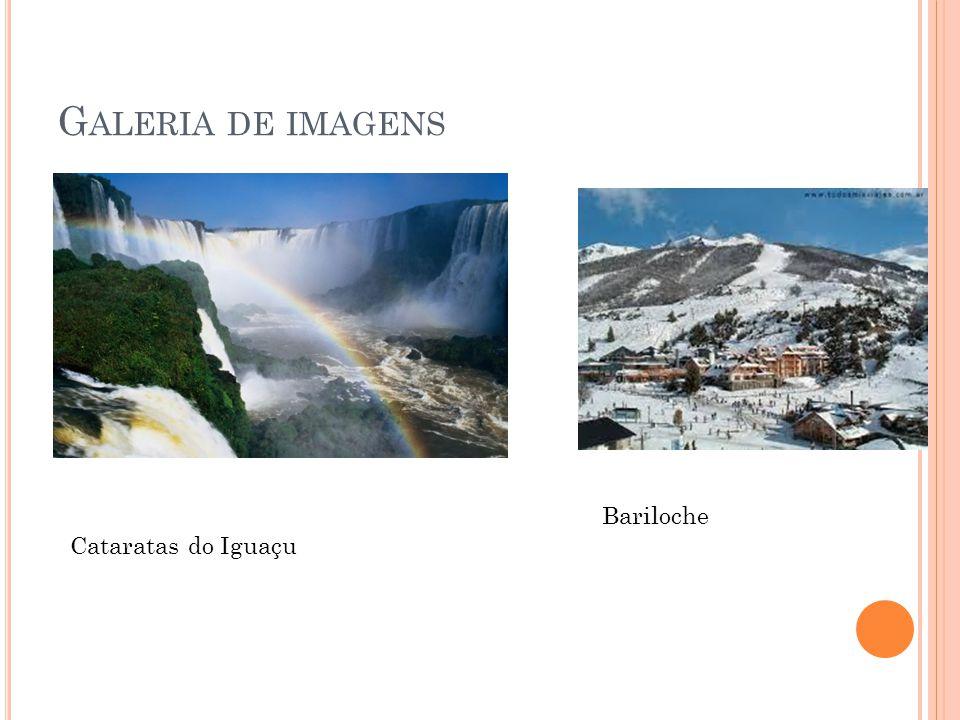 G ALERIA DE IMAGENS Cataratas do Iguaçu Bariloche