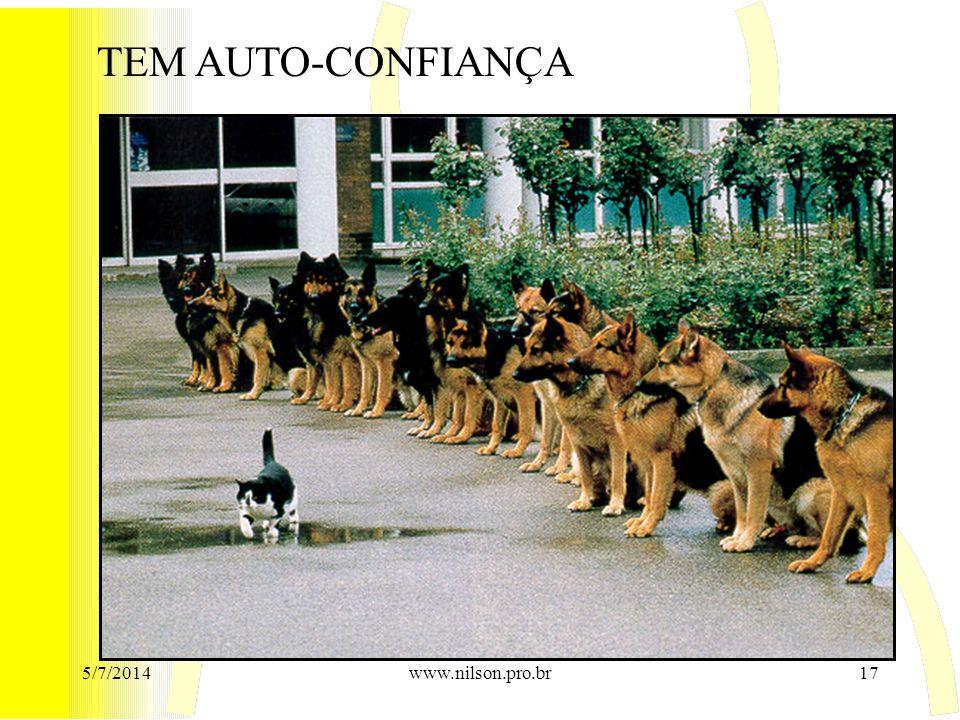 TEM AUTO-CONFIANÇA 5/7/201417www.nilson.pro.br