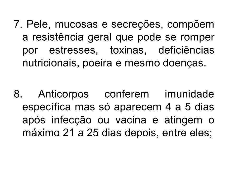 - Anticorpos Humorais – Anticorpos do sangue circulante (IgG) e são medidos nos testes sorológicos.