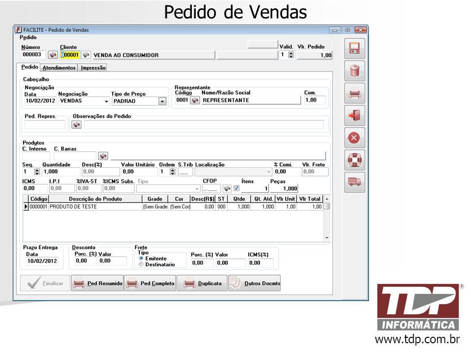 Pedido de Vendas www.tdp.com.br