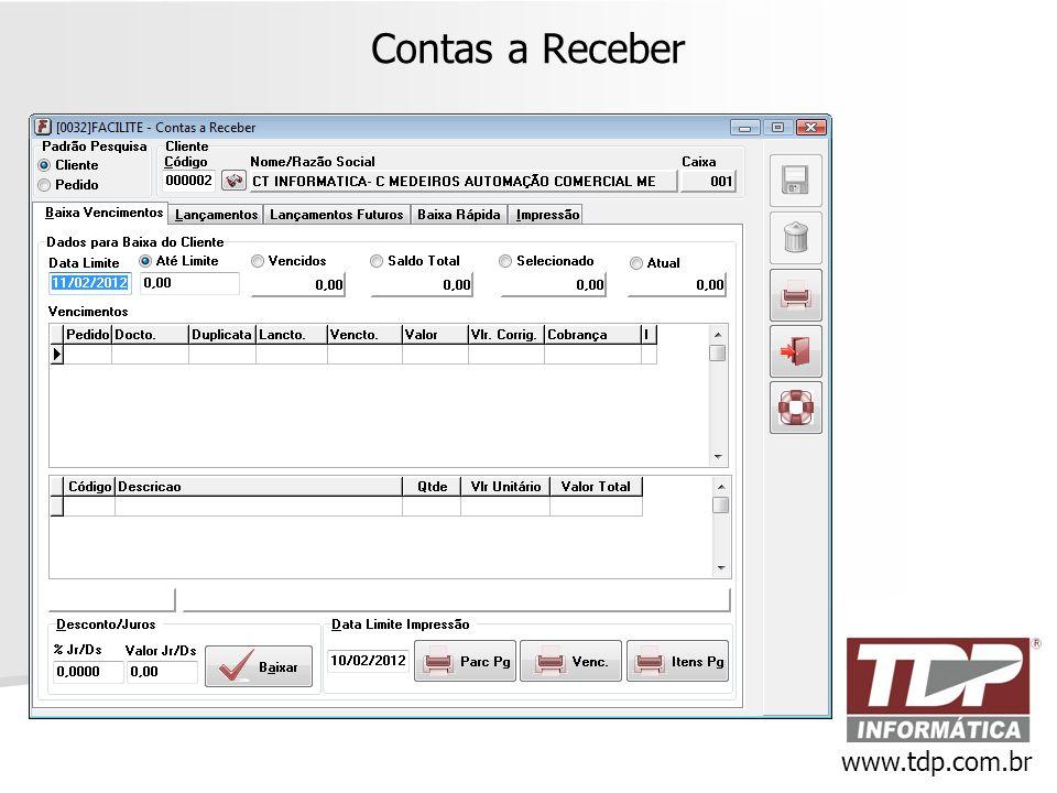 Contas a Receber www.tdp.com.br