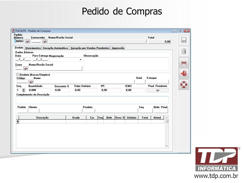 Pedido de Compras www.tdp.com.br