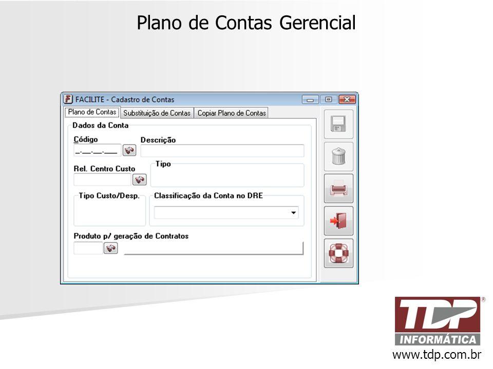 Plano de Contas Gerencial www.tdp.com.br