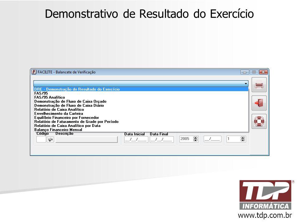 Demonstrativo de Resultado do Exercício www.tdp.com.br