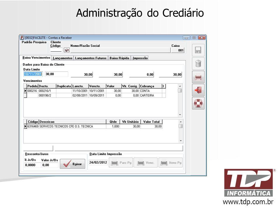 Administração do Crediário www.tdp.com.br