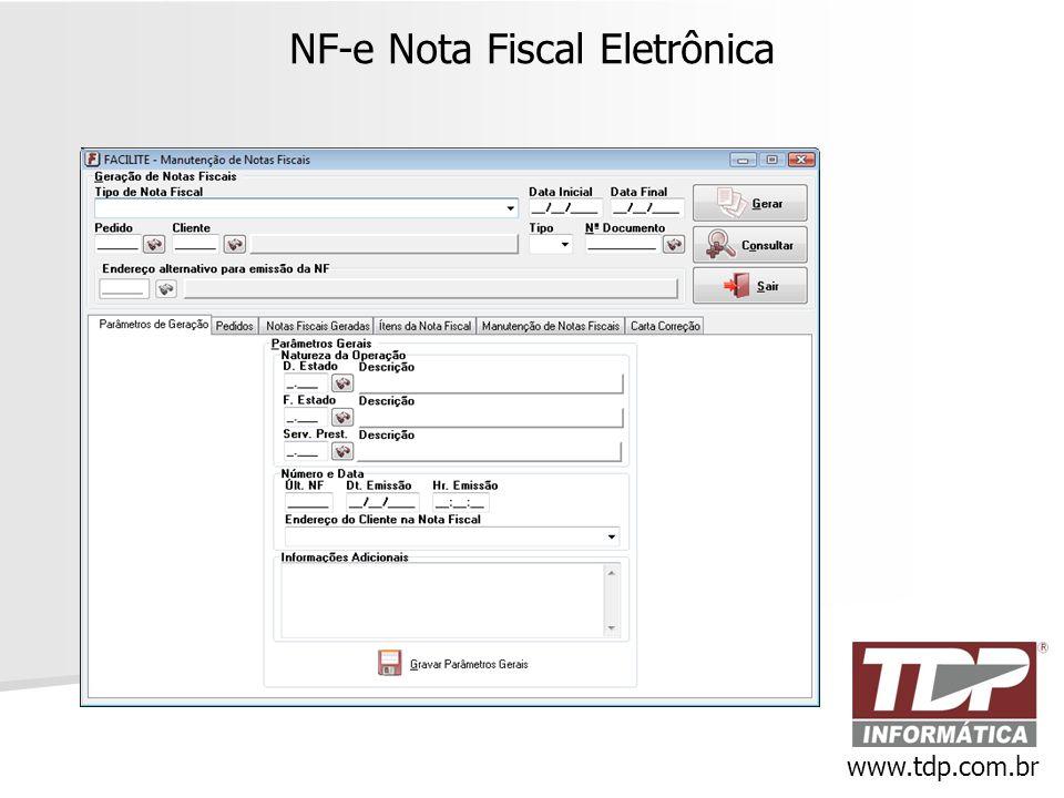NF-e Nota Fiscal Eletrônica www.tdp.com.br